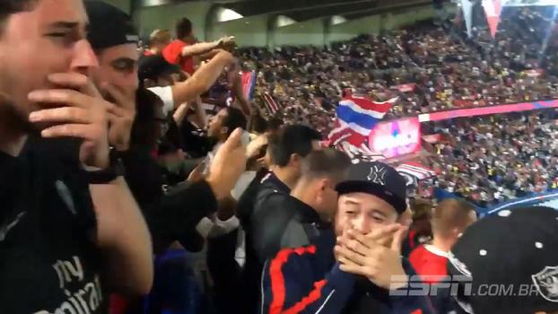 E os torcedores do PSG, estão eufóricos com Neymar? Veja reação da arquibancada após o sexto gol