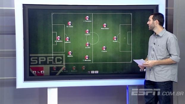 Variações táticas durante o jogo; veja como jogou o São Paulo em Curitiba