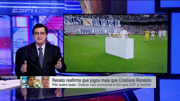 Renato Gaúcho ou Cristiano Ronaldo? Antero Greco diz que prefere Zidane