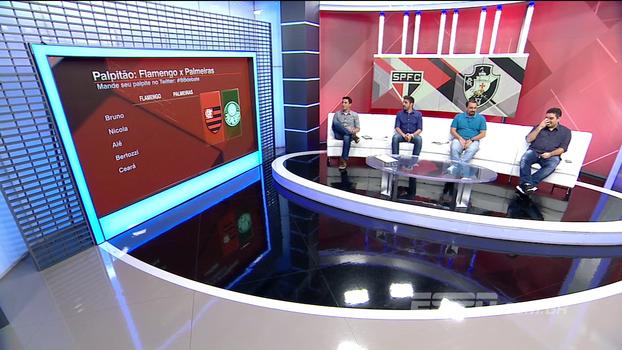 Flamengo x Palmeiras e São Paulo x Vasco: veja os palpites do BB Debate