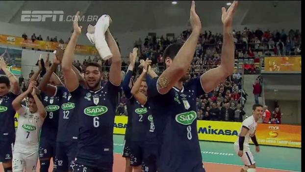 Mundial de Clubes de Vôlei: Sada Cruzeiro vence Zaksa e está na semifinal