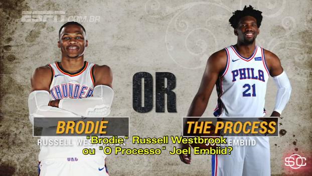 Westbrook ou Embiid? Quem é a maior 'figura' da NBA