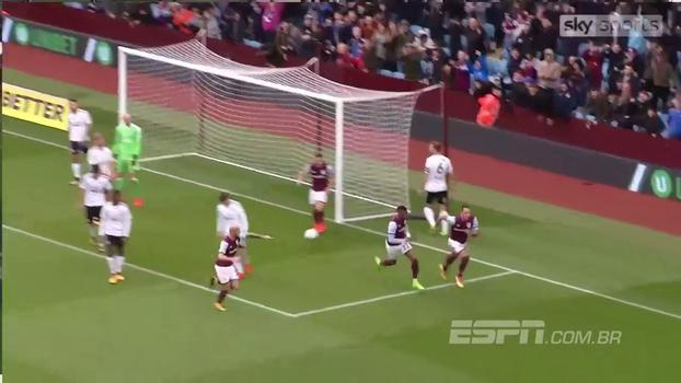 Ídolo no Chelsea, John Terry faz seu primeiro gol com a camisa do Aston Villa