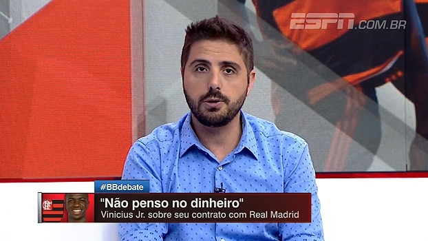 Jorge Nicola: 'Vinicius Jr abriu mão de 15 milhões de euros para ficar no Flamengo'