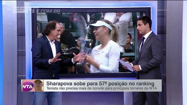 Meligeni diz que ano de Sharapova é 2018: 'A partir do ano que vem, ela vai dar trabalho'