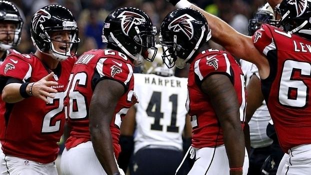 Assista aos lances da vitória dos Falcons sobre os Saints por 45 a 32!