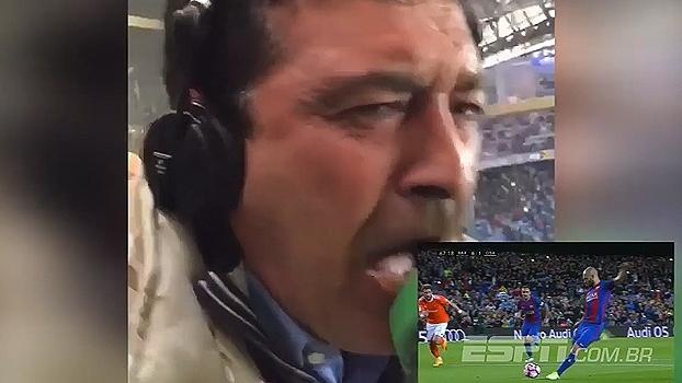 Narrador vai à loucura com 1° gol de Mascheranopelo Barcelona; veja o vídeo