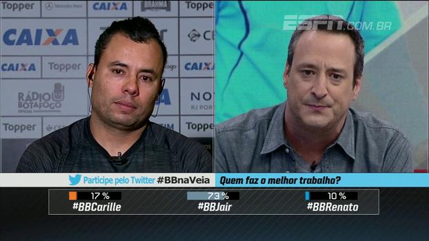 Jair fala sobre opções no time do Botafogo e responde: 'Meu elenco não é limitado, ele é enxuto'