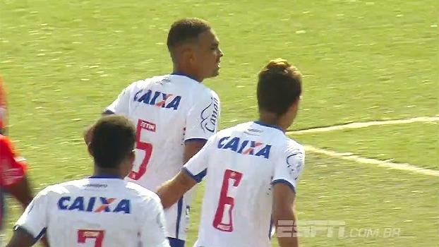 Bahia sai atrás, mas busca virada e vence Trindade na Copa São Paulo