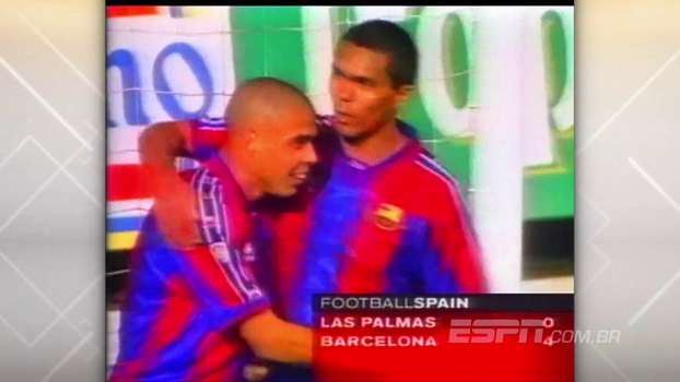 Ronaldo Fenômeno fez dois, atual técnico do Chile deixou o dele, e Barcelona goleou Las Palmas em 1997