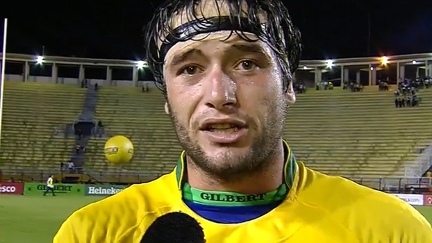 Jogadores da seleção de rugby do Brasil se emocionam com vitória histórica sobre o Canadá