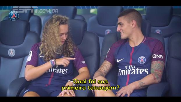 Marquinhos e Verratti participam de entrevista com pequenos torcedores do PSG