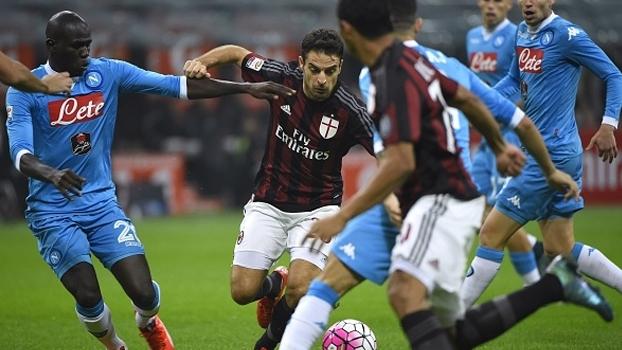 Napoli recebe o Milan às 15h30 de sábado no Italiano; ESPN Brasil e WatchESPN transmitem