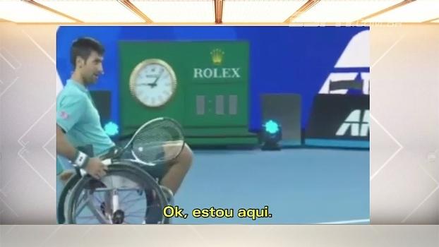 Djokovic joga tênis adaptado: 'Treino mais difícil da minha vida'