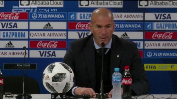 Zidane fala sobre o Grêmio, diz que não assiste à liga brasileira e faz previsões para a final