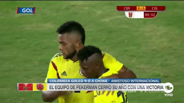 Com 2 gols de Borja - incluindo uma pintura - Colômbia faz 4 e passa por cima da China