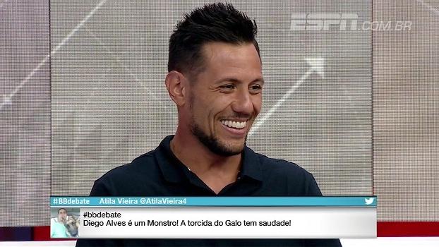 Diego Alves conta que já ouviu brincadeira de Cristiano Ronaldo após pegar pênalti do português