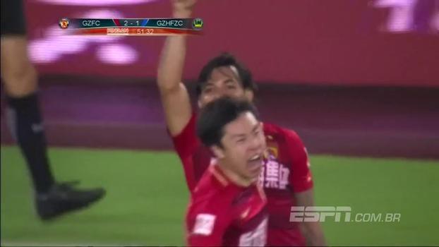 Com gols brasileiros, Guangzhou faz 5 a 1 no Guizhou e é campeão chinês