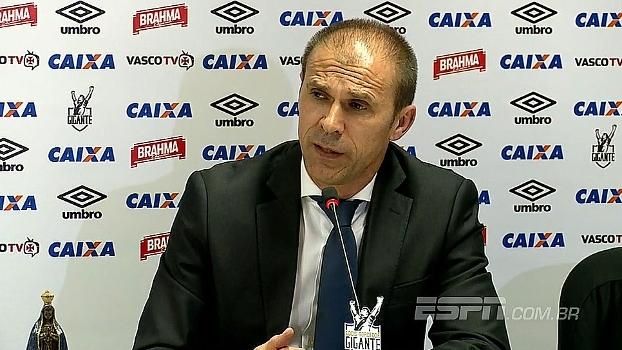 'Sou um treinador que gosta de disciplina', diz Milton Mendes na chegada ao Vasco