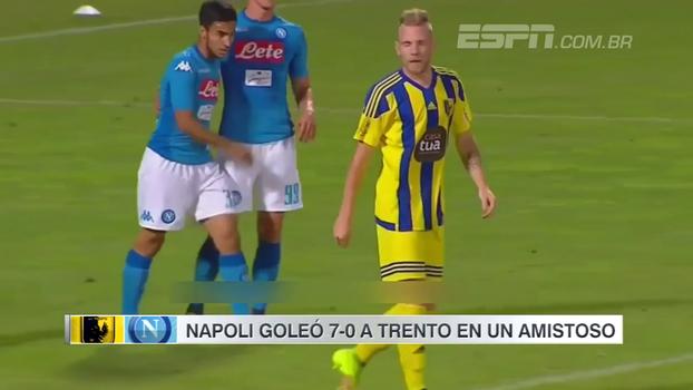 Com gol de antes do meio-campo, Napoli goleia Trento por 7 a 0 em amistoso