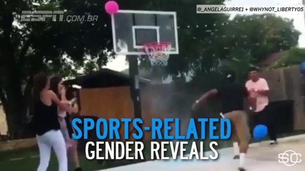 Atletas e fãs de esportes abusam da criatividade na hora de revelar o sexo dos seus bebês