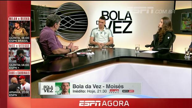 Brasileirão ESPN, Bola da Vez com Moisés e mais; veja a programação desta terça-feira nos canais ESPN