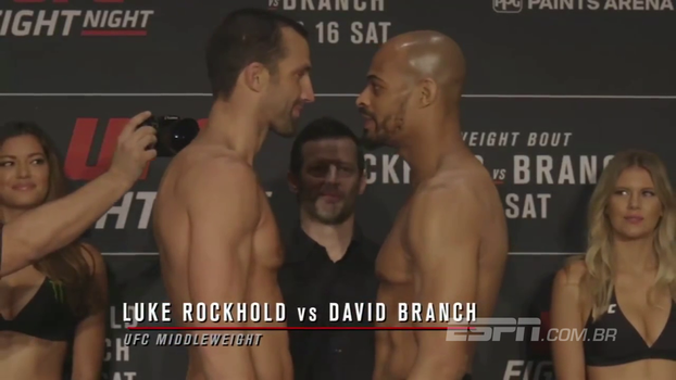 VEJA a encarada entre Luke Rockhold e David Branch no UFC Pittsburgh