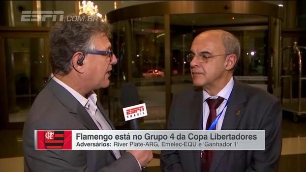 Bandeira de Mello analisa grupo do Flamengo na Libertadores e fala sobre Guerrero e reforços