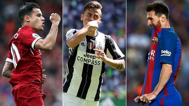Golaços: Messi faz fila, Coutinho e Dybala esbanjam precisão e Dortmund tabela com estilo