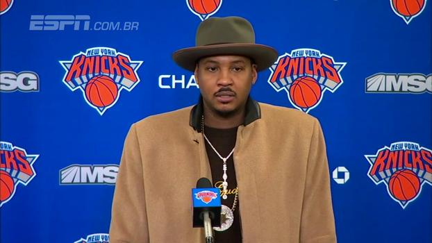Carmelo se defende de críticas e relembra tempo de Knicks: 'Tinha esperança de título em Nova York'