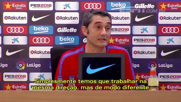 Valverde entende decepção da torcida e pede reorganização no Barcelona: 'Aprender com isso'