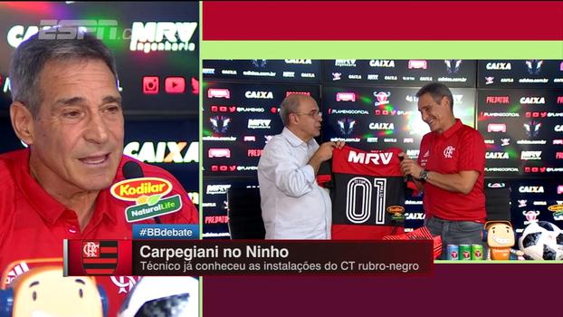 Manager? Carpegiani explica: 'Hoje eu sou treinador do Flamengo'