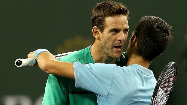 Djokovic vence Del Potro de novo e avança em Indian Wells