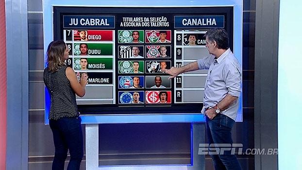 Ju Cabral com Douglas e João 'Canalha' com Camilo: comentaristas 'convocam' seleção