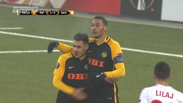 Assista aos gols da vitória do Young Boys sobre o Skënderbeu Korcë por 2 a 1!
