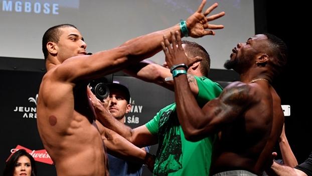 Paulo Borrachinha dá empurrão na cara de nigeriano na pesagem do UFC 212