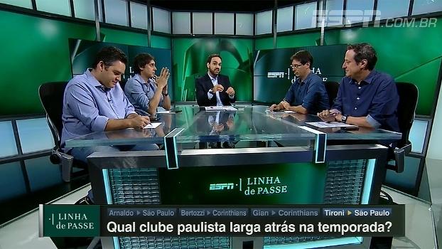 Qual clube paulista larga atrás na temporada? Comentaristas do 'Linha de Passe' respondem