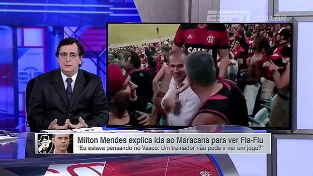 Antero critica ataques a Milton Mendes por ir ao Maracanã: 'Coisa de quem não tem o que fazer'