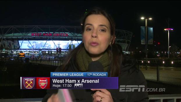 Desfalque de Ramsey e volta de Chicharito: Natalie Gedra traz as novidades do jogo entre West Ham e Arsenal