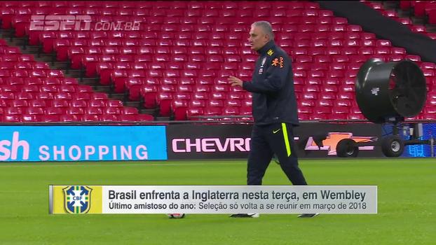 No último jogo de 2017, Tite faz 6 mudanças e Brasil encara Inglaterra, em Wembley, com 'time ideal'