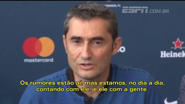 Técnico do Barcelona fala sobre 'questões de vestiário' e garante: 'Neymar está com a gente'