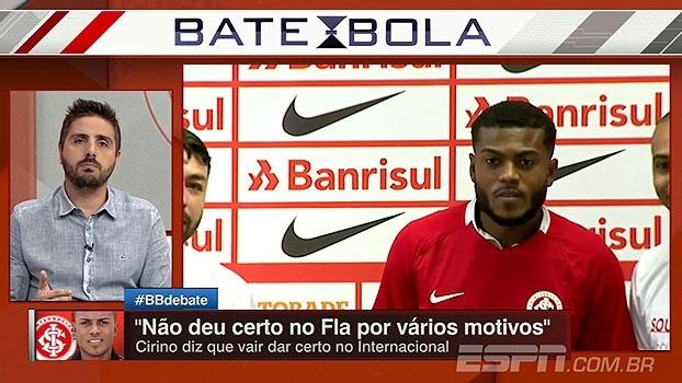 Nicola analisa Cirino no Fla: 'Um jogador que atuou quase 100 vezes não pode reclamar de falta de oportunidade'