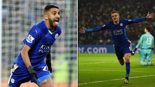 Mahrez fez pintura, Vardy deixou o dele e Leicester venceu Chelsea em 2015