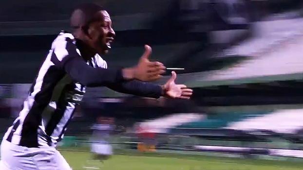 Botafogo leva virada, mas busca empate com o Coritiba no 1º duelo da semi do Brasileirão sub-20