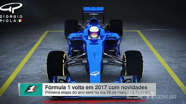 Pneus mais largos, carros mais rápidos e novos designs; as novidades da F1 para 2017