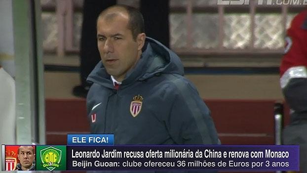 Leonardo Jardim recusa oferta milionária da China e renova com Monaco