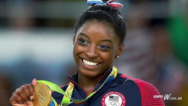 Você sabia? Multicampeã olímpica, Simone Biles foi adotada pelos avós aos três anos