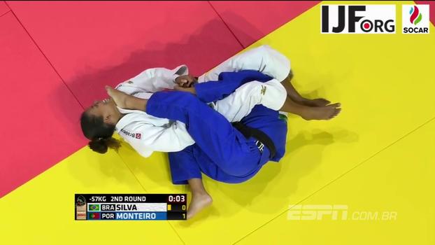 Rafaela Silva perde na estreia no Mundial de judô de Budapeste