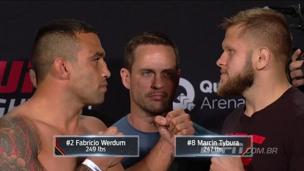 Veja a encarada entre Fabrício Werdum e Marcin Tybura pelo UFC Fight Night 121