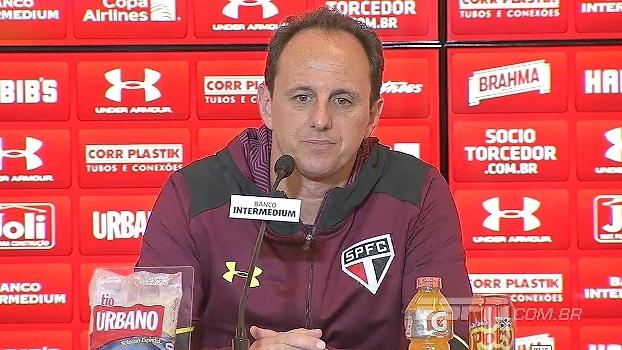 Rogério Ceni projeta jogo contra o Avaí no Morumbi: 'Jogar em casa gera expectativa e cobrança'